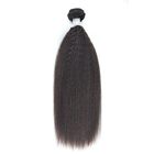 10A Brazilian Unprocessed Virgin Hair Kinky Straight Human Hair Weave 3 Pcs No Tangle No Shedding