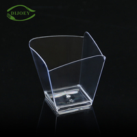 Cheap price clear wholesale square disposable mini plastic dessert cup