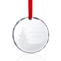 Factory Selling Customized Clear Crystal Glass Christmas Ornaments