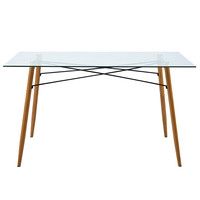Free Sample Cheap Modern home furniture glass dining table