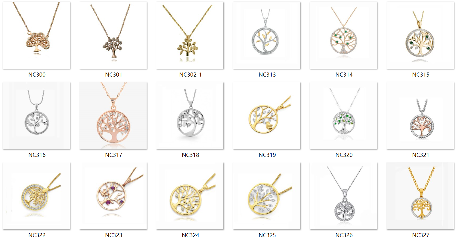 2She High Quality gold plated tree of life fashionable new design jewelry necklace