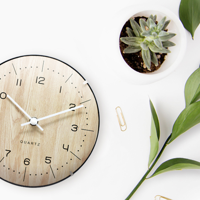8 inch Stand Mini Fancy Office Table Clock with Arch Glass Face