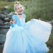 Kinder Party Ball Kleider Laterne Hülse Floral Appliques Cinderella Cosplay <span class=keywords><strong>Kostüm</strong></span> Hübsche Prinzessin Kleider