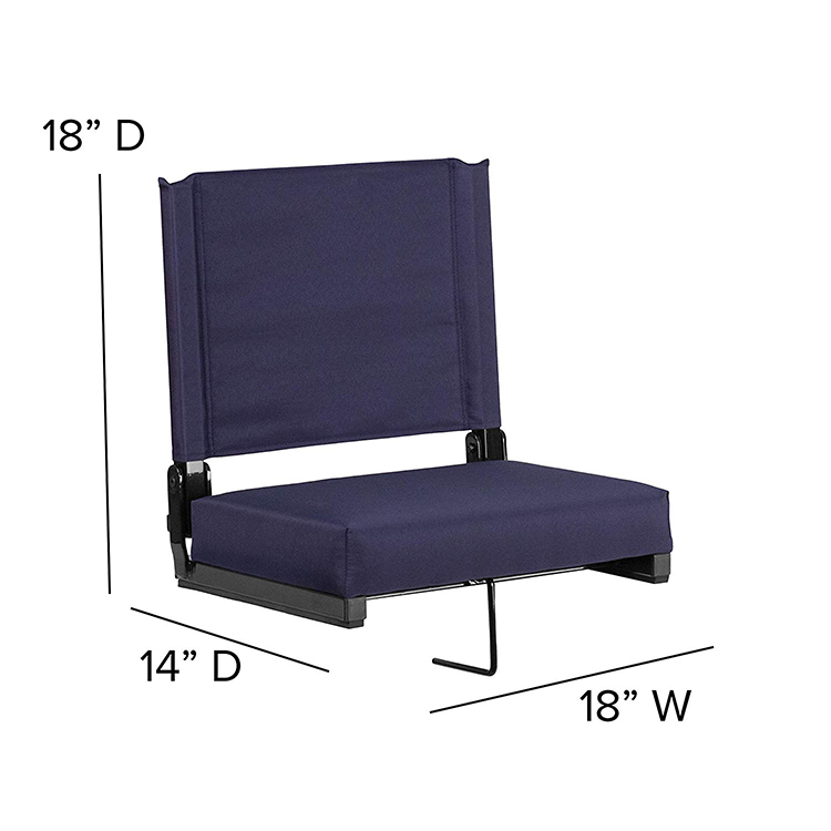 Football Portable Folding Stadium Chair Seat for Bleachers with Hook