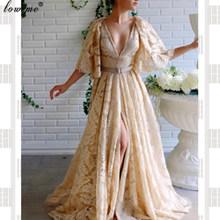Caftan Couture Длинные платья знаменитостей с v-образным вырезом и открытой спиной, грандиозные вечерние платья для женщин, модные вечерние платья...(Китай)