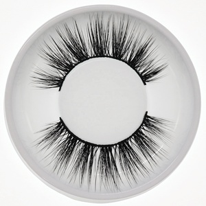 Whosale 3D Faux Mink Eyelashes Korean Silk Eye Lash Private Label Own Brand Custom Packaging Box Strip Eyelashes
