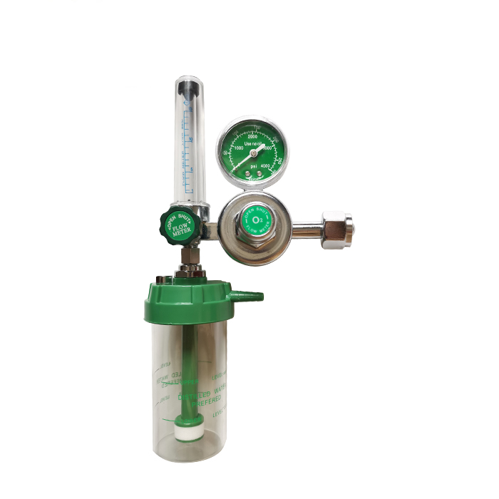 Good quality medical Oxygen flow regulator with humidifier