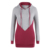 Wholesale Color Stitching Full Sleeves Casual Drawstring Hooded Sweatshirt For Women