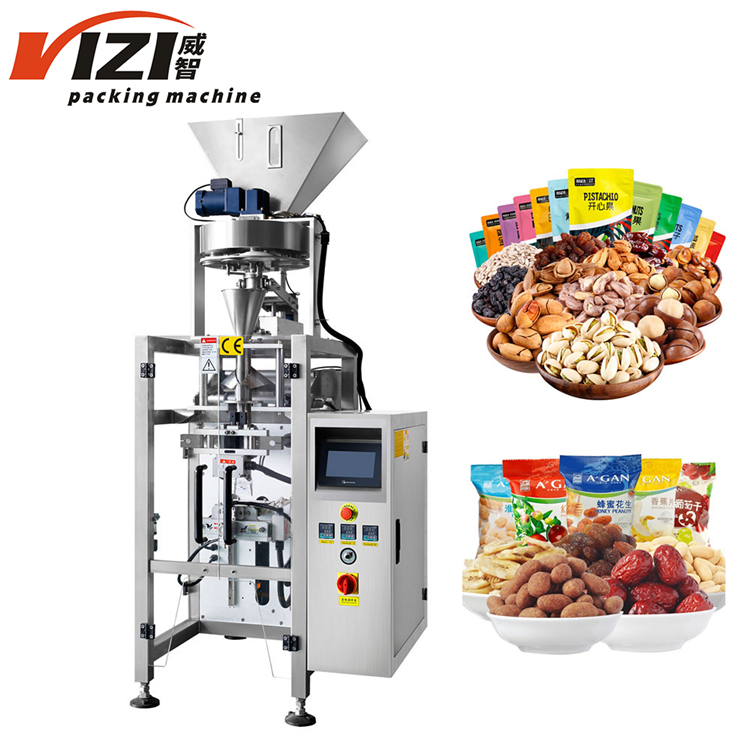 Auto food grain granule nut high speed pet food packaging machine from China