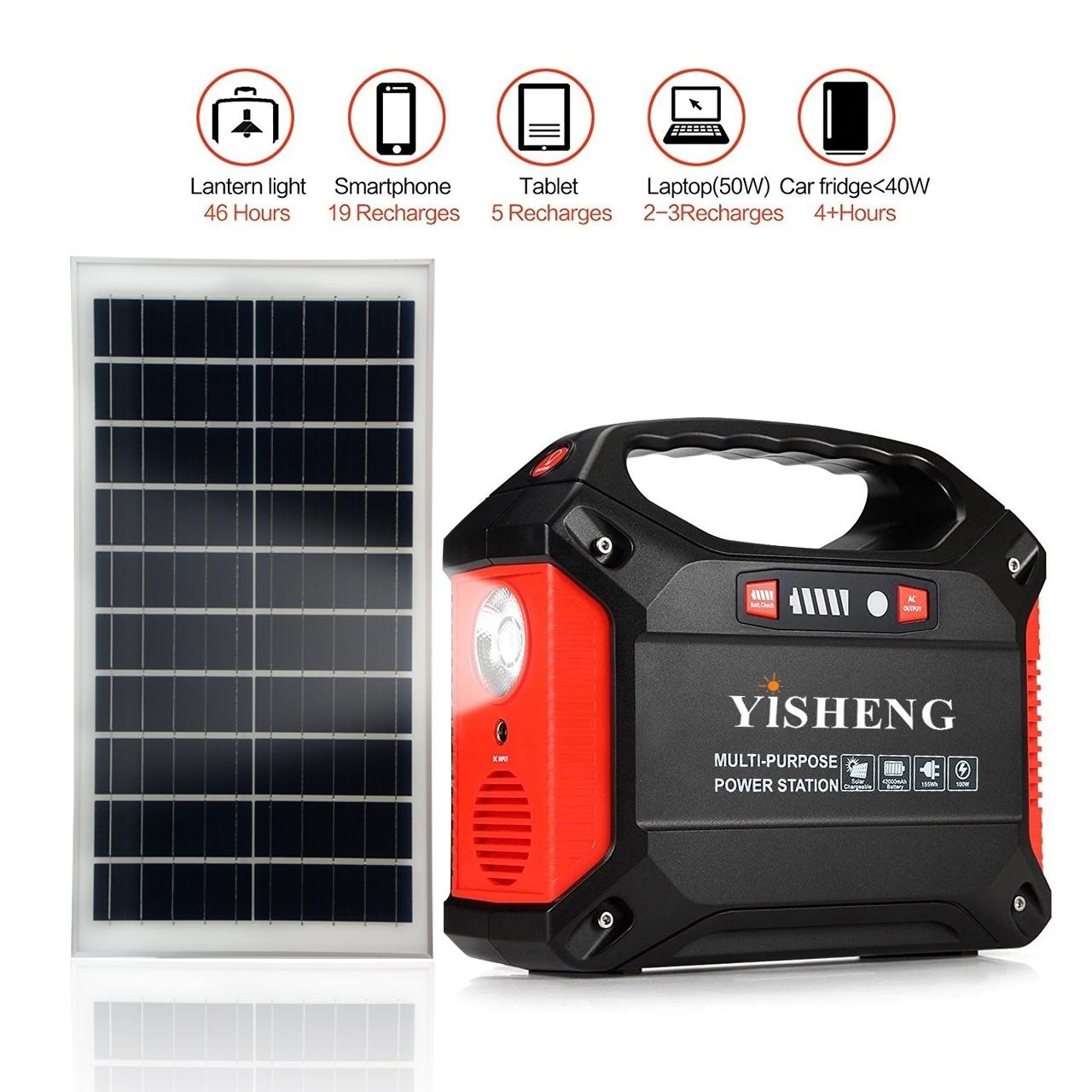 Multi-funktionale Batterie Backup DC5V DC12V Power Bank, AC110V 220V 240V Tragbare Solar Generator Station Notfall Power Pack