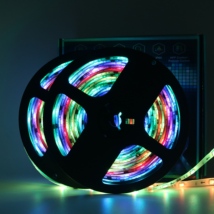 10m waterproof Tuya Magic Home wifi dreamcolor 12v ws 2811 rgbic rgb 5050 led strip lights