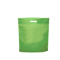 Cheap Logo Promotional Flat Non Woven Die Cut Handle Fabric Shopping Bags in Stock