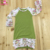 Wholesale kids floral long sleeve icing ruffle raglan baby gown christening gowns for girls