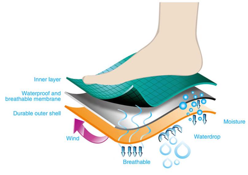 Deliwear унисекс пользовательские логотип Экипаж размеры водонепроницаемый дышащий носки для девочек доказательство воды носки девочек пеш
