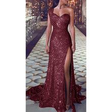 Женское вечернее платье с блестками, золотистое платье подружки невесты с v-образным вырезом, платье для выпускного вечера, Ete Elbise #38(Китай)