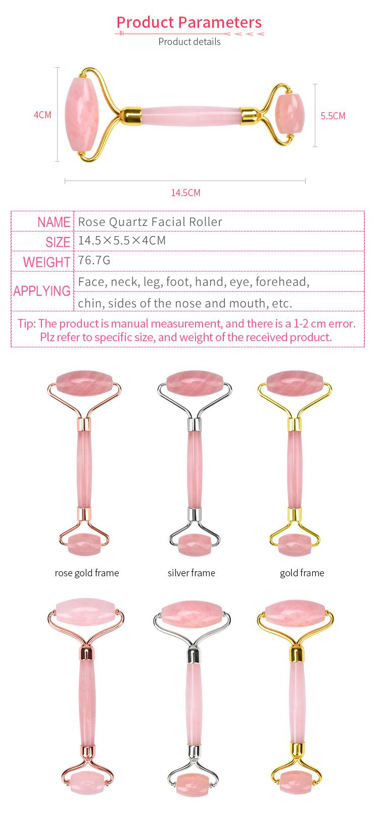 2020 fábrica directamente vender anti-envejecimiento facial masaje cara Spa herramienta de cristal de cuarzo rosa de para la cara