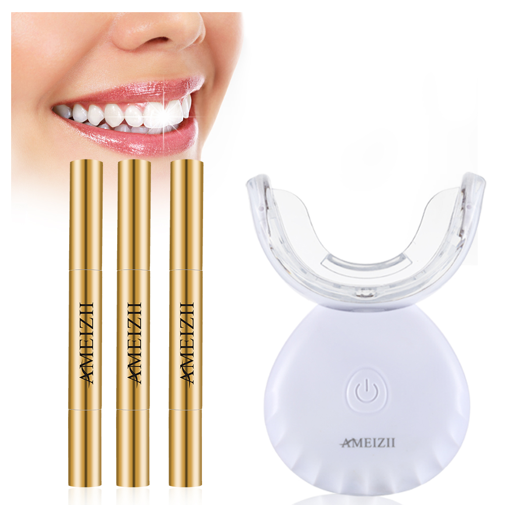 Toptan dokunmatik kontrol diş beyazlatma makinesi ev kablosuz su geçirmez diş beyazlatıcı Blanqueador diş beyazlatma jeli kalem kiti