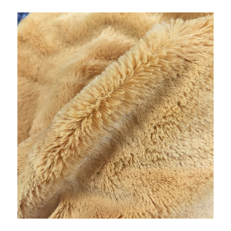 Long Pile Fake Fur Fabric , PV Plush Fabric