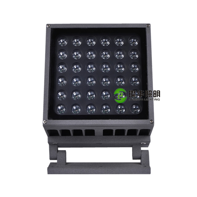 hotel 220V 24V yellow blue outdoor landscape square floodlight 36W 36 watt led garden projector light