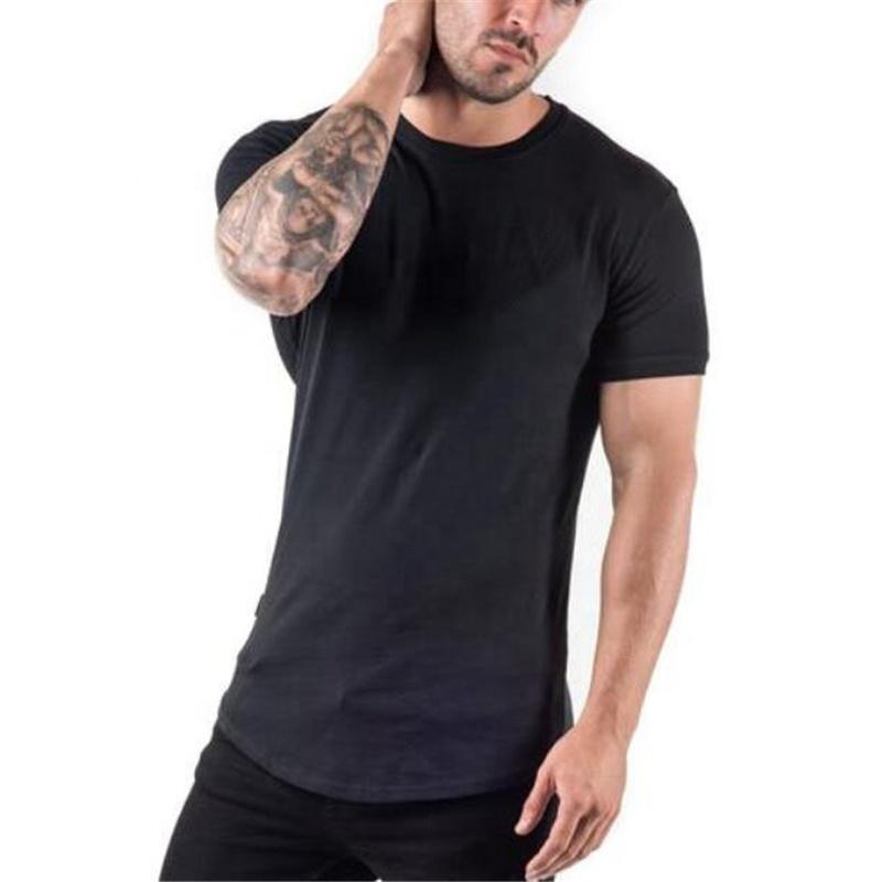 Atmungsaktive lauf gym quick dry fit 90% baumwolle 10% spandex bedrucken logo groß leere plain männer sport t-shirt