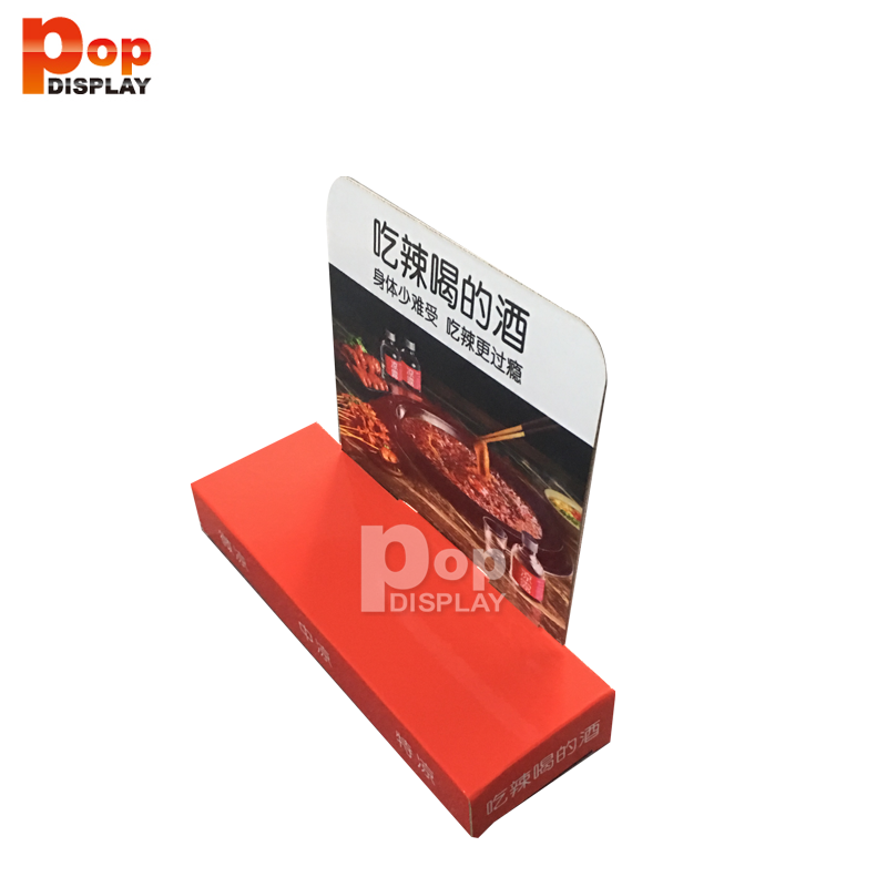 Factory wholesale folding cardboard display cardboard counter display stand