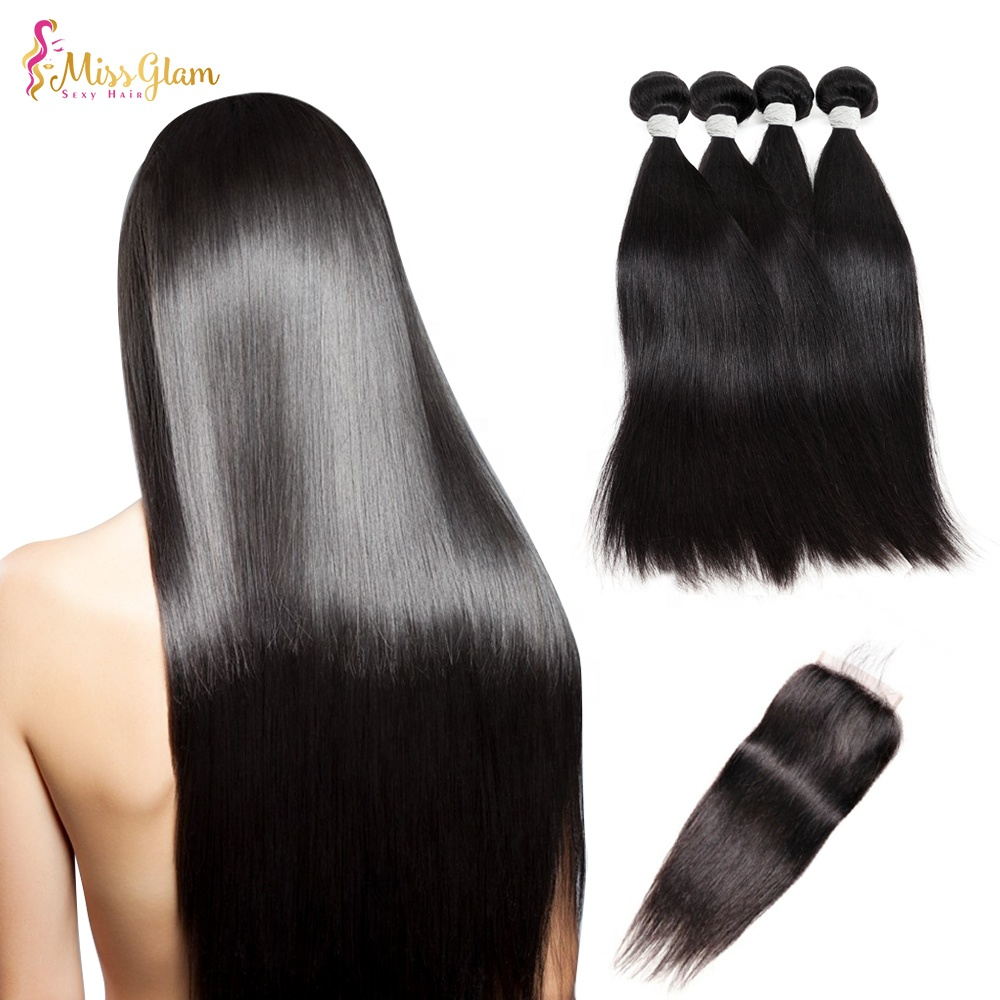 Factory Wholesale Remy Human Hair Extension 10A Grade Natural Raw Indian Hair Bundles Vendors