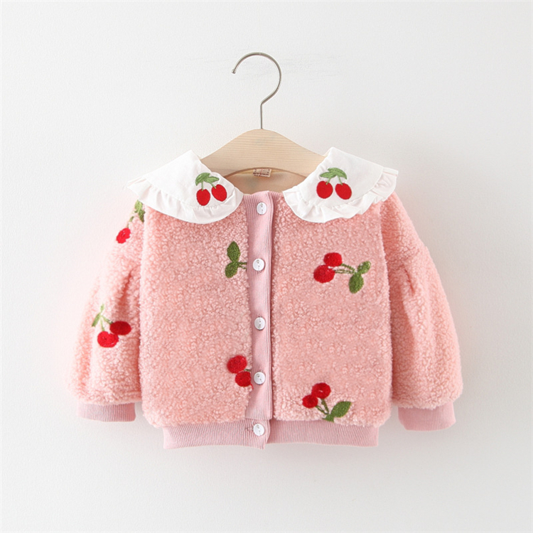 Fashion kids winter clothes Outwear baby woolen coats girls winter coats