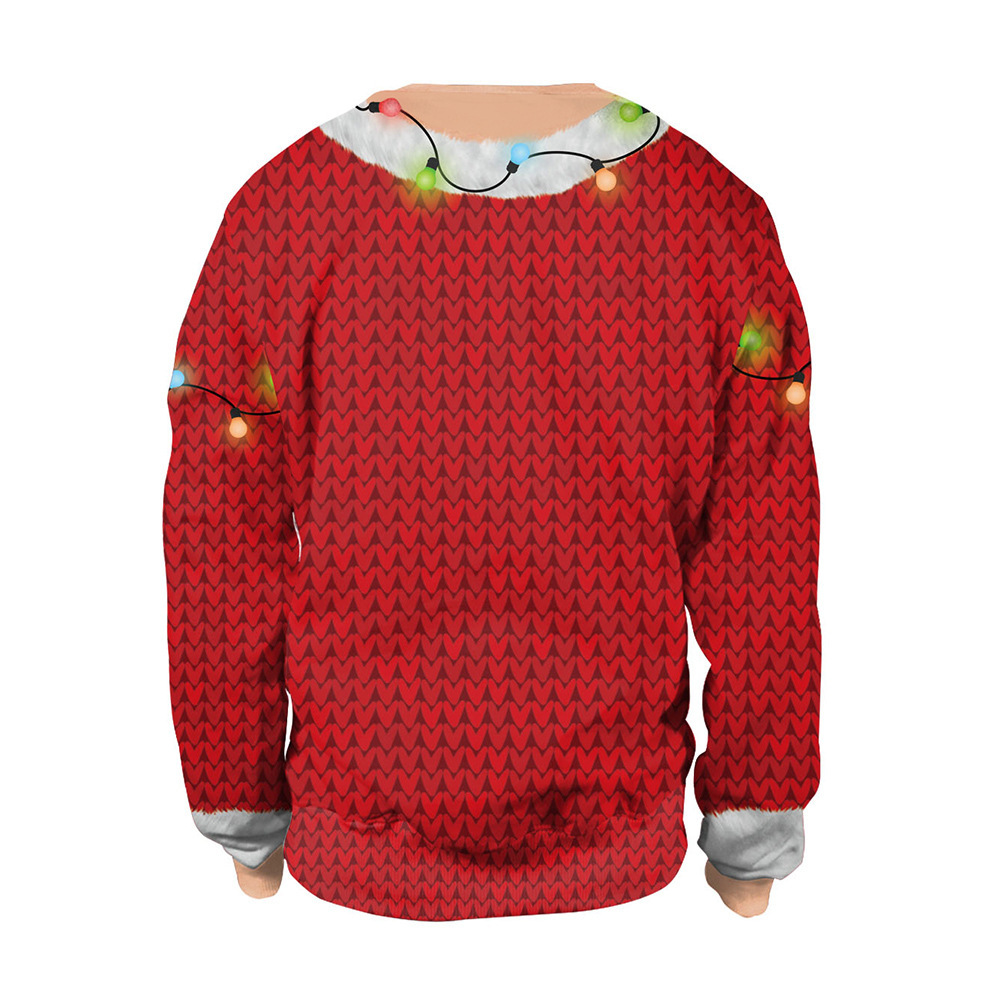 New Arrival Christmas Holiday 3D Print Crew-neck long-sleeved Couple Hoodies