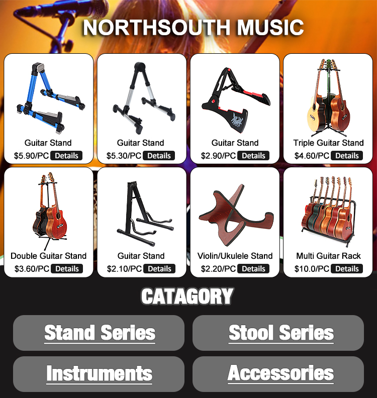 Basics Colorful A-Frame Guitar Stand With Anti-Skid Base Great Stability