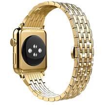 Роскошный Алмазный чехол + ремешок из нержавеющей стали для Apple Watch, 5, 4, 3, 2, 1, ремешок для iWatch, 38 мм, 42 мм, 40 мм, 44 мм, браслет для женщин(Китай)