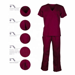 Made in Myanmar cheap custom color scrubs uniforms medical nursing scrub suit sets