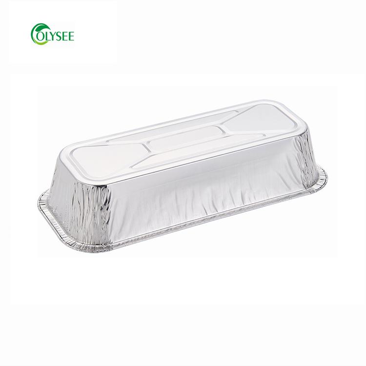 Прямоугольная форма экологически чистые пищевые одноразовые алюминиевой фольги упаковки еды лотки