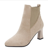 UP-0966J Latest Women Winter Square Heel Ankle Boots Fashion Shoes