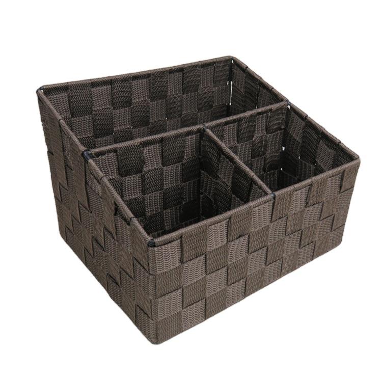 nylon band paper file book magazine pen holder with metal frame office desk organizer storage baskets Letter Holder