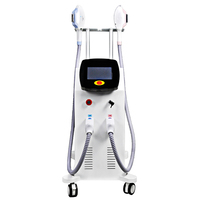 China supplier beauty machine Double handles for permanent painless hair removal
