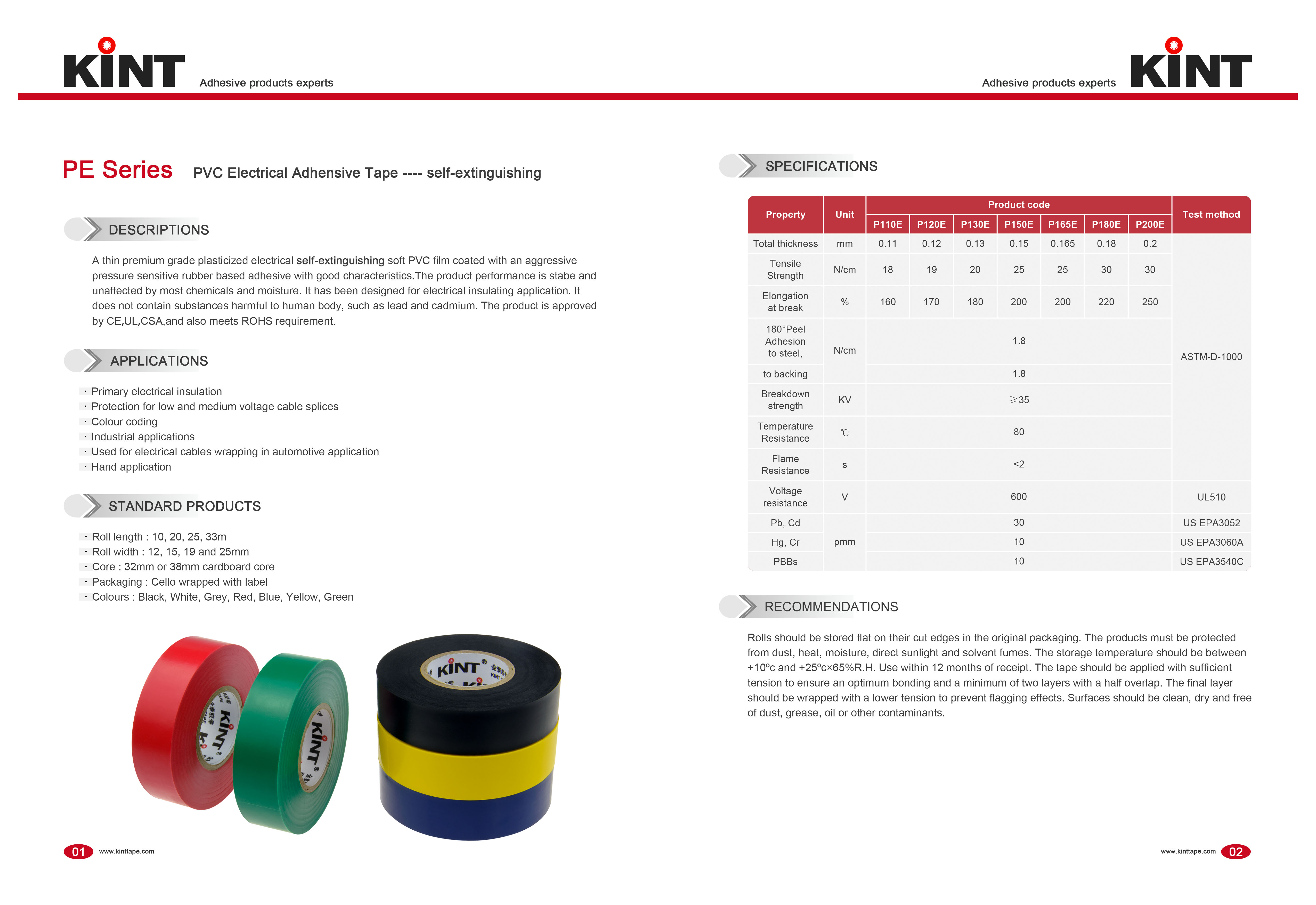New pvc electrical tape adhensive factory for electrical insulating application