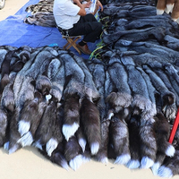 China factory wholesale Tanned Fox Hides Silver Fox Fur Pelts for Sale