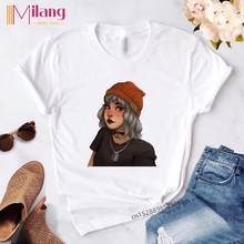 Готический летний винтажный Топ, мягкая одежда для девочек, эстетический стиль, забавная футболка с графикой, Harajuku, модные футболки, женская...(China)