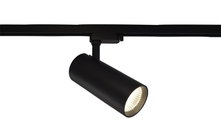 Lámpara de enfoque de 12/18/25/35/45W, accesorios de iluminación de punto, focos montados en superficie, riel magnético lineal, luz de pista Led COB