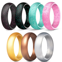 Custom logo Christmas gift silicone thumb ring rubber material wedding ring