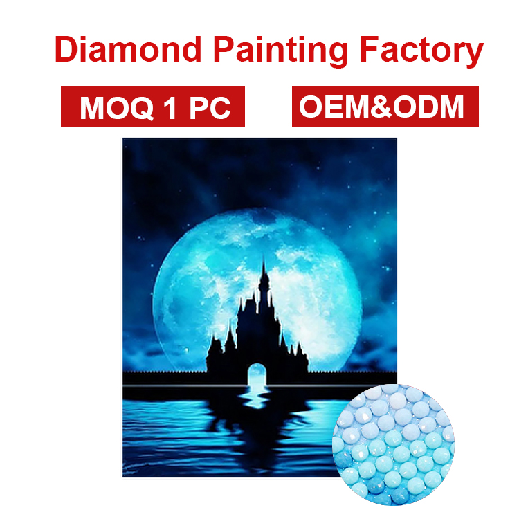 Atacado fábrica OEM ODM kits de pintura diamante 5d diy pintura diamante do ponto da cruz 3d home da parede pintura do artista