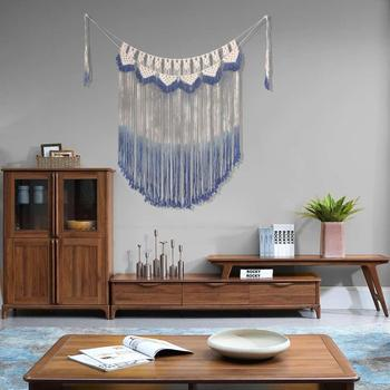 Newly Wall Hanging Tassel Tapestry Handmade Curtain,Boho Macrame Creative For Home Room Background/