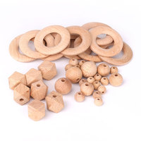BPA Free Non-toxic Chewable Custom Loose Beads, Teething Wooden Beads