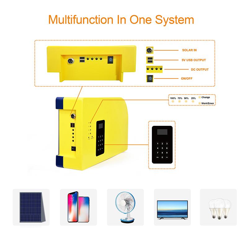 PAYGO Zahlen, Wie Sie Gehen Prepaid Off-grid Solar-Home Beleuchtung Kit Lösung Mit 18V/80W solar Panel OEM ODM