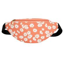 Женская поясная сумка Daisy Flower, Классическая текстура, креативный дизайн, шикарная сумка из искусственной кожи на молнии, простая сумка через...(Китай)