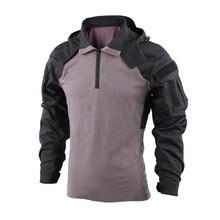 Тактическая рубашка BACRAFT, боевая униформа, Уличное оборудование-SP2 версия, черный, серый, XXL/XL/L/M(Китай)