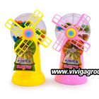 windmill shaped toy with crisp colorful compound chocolate bean candy