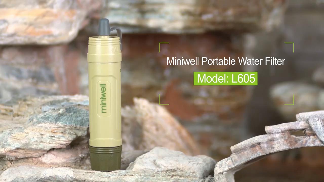 Miniwell مرشح مياه محمول L605
