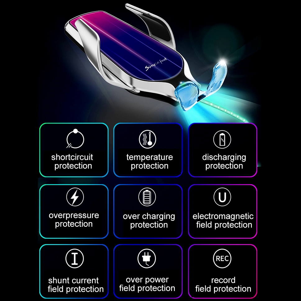 Amazon Best Seller 3 In 1 Car Wireless Charger Holder 10w R9