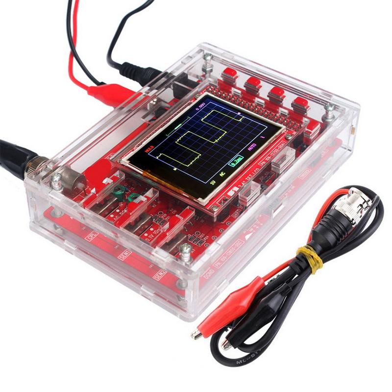 JYE Tech DSO138 Мини цифровой осциллограф DIY Kit SMD запчасти предварительно припаянный электронный Обучающий набор 1MSa/s Прозрачный чехол(Китай)